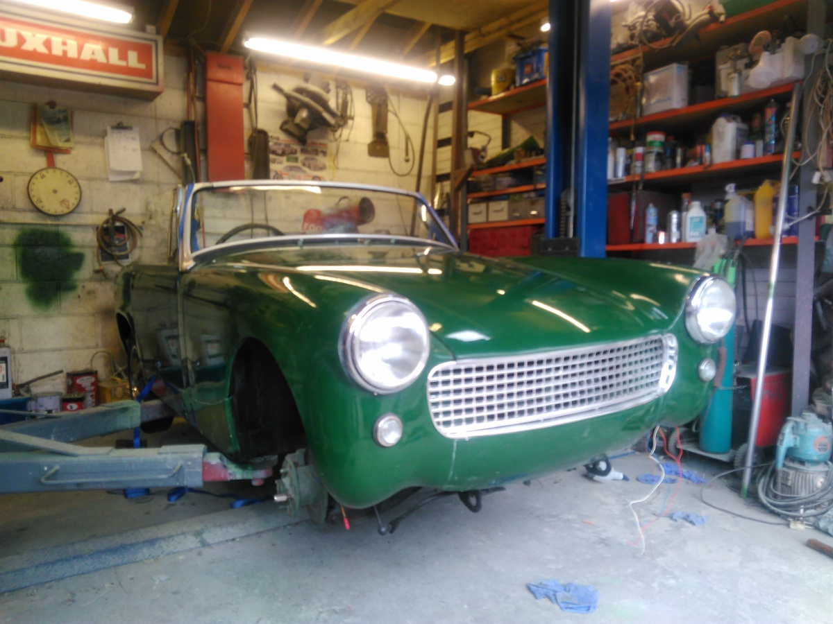 MG Midget Reassembly.